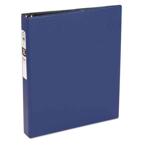 "Economy Non-view Binder With Round Rings, 3 Rings, 1"" Capacity, 11 X 8.5, Blue, (3300)"