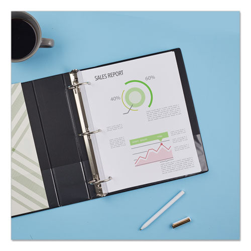 "Economy Non-view Binder With Round Rings, 3 Rings, 3"" Capacity, 11 X 8.5, Black, (3602)"