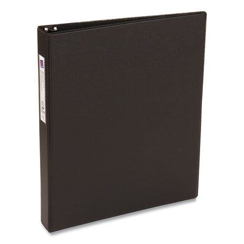 "Economy Non-view Binder With Round Rings, 3 Rings, 1"" Capacity, 11 X 8.5, Black, (4301)"