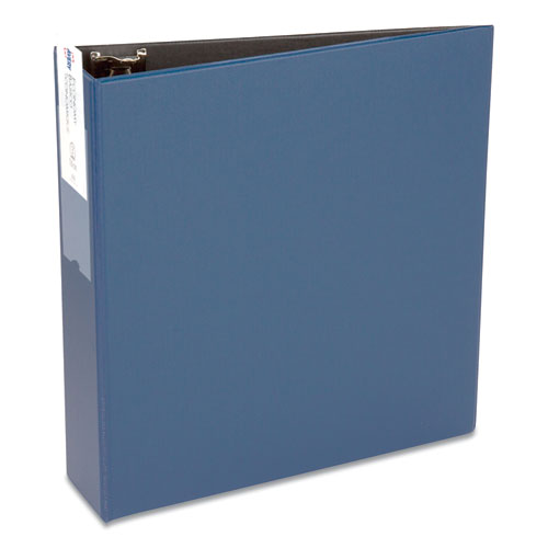 "Economy Non-view Binder With Round Rings, 3 Rings, 3"" Capacity, 11 X 8.5, Blue, (4600)"