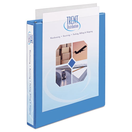"Heavy-duty Non Stick View Binder With Durahinge And Slant Rings, 3 Rings, 1"" Capacity, 11 X 8.5, Light Blue, (5301)"