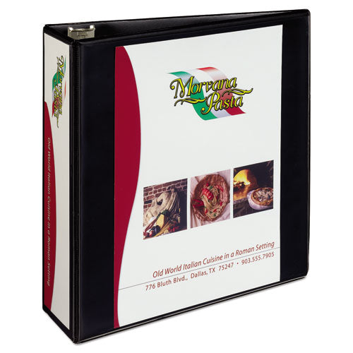 "Heavy-duty Non Stick View Binder With Durahinge And Slant Rings, 3 Rings, 3"" Capacity, 11 X 8.5, Black, (5600)"