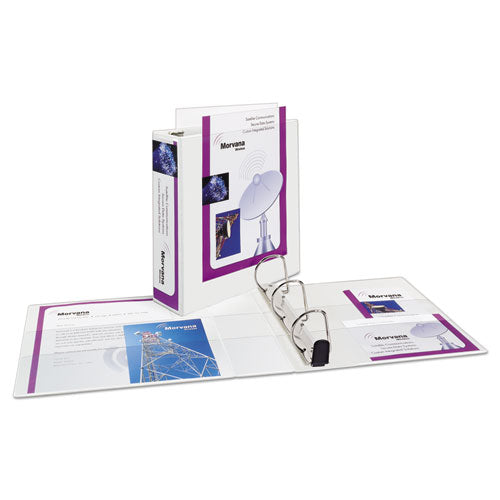 "Heavy-duty Non Stick View Binder With Durahinge And Slant Rings, 3 Rings, 3"" Capacity, 11 X 8.5, White, (5604)"