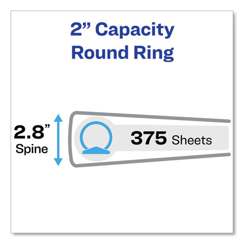"Economy View Binder With Round Rings , 3 Rings, 2"" Capacity, 11 X 8.5, White, (5731)"