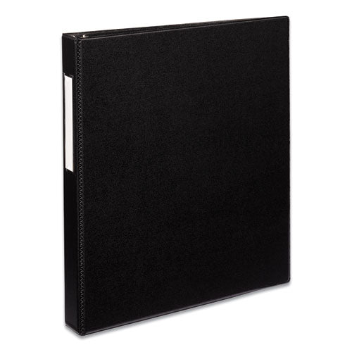 "Durable Non-view Binder With Durahinge And Ezd Rings, 3 Rings, 1"" Capacity, 11 X 8.5, Black, (8302)"