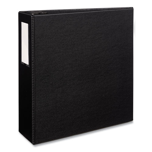"Durable Non-view Binder With Durahinge And Ezd Rings, 3 Rings, 4"" Capacity, 11 X 8.5, Black, (8802)"