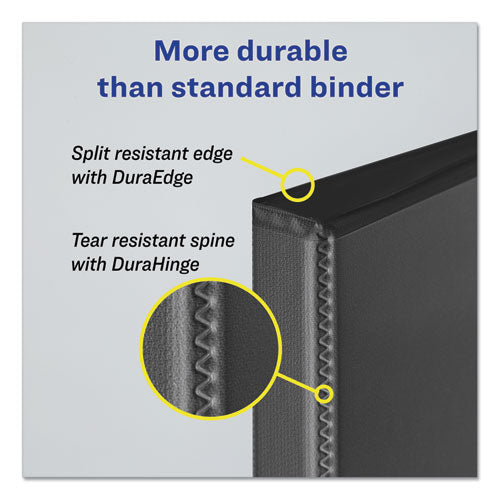 "Durable View Binder With Durahinge And Ezd Rings, 3 Rings, 1"" Capacity, 11 X 8.5, Black, (9300)"