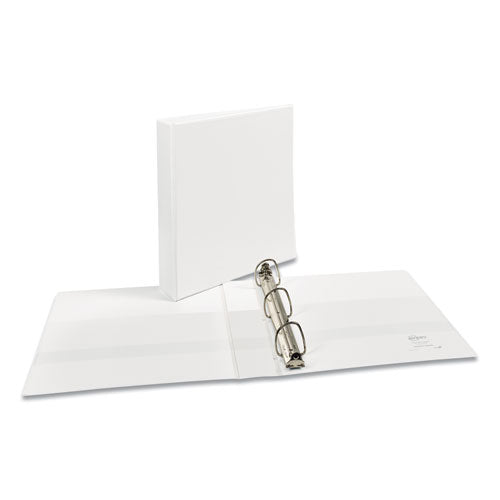 "Durable View Binder With Durahinge And Ezd Rings, 3 Rings, 1.5"" Capacity, 11 X 8.5, White, (9401)"