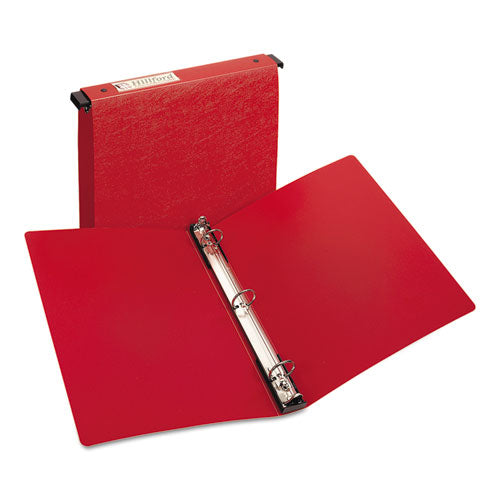 "Hanging Storage Flexible Non-view Binder With Round Rings, 3 Rings, 1"" Capacity, 11 X 8.5, Red"