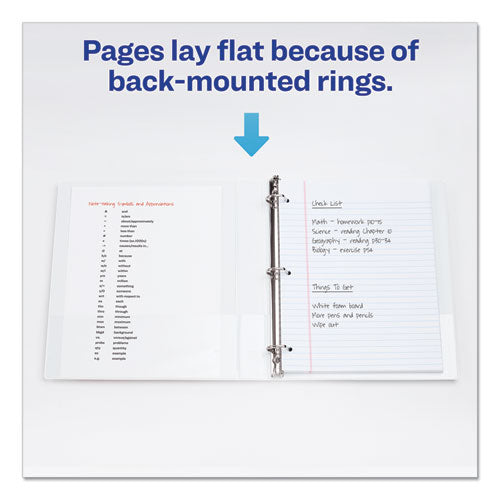 "Legal Durable View Binder With Round Rings, 3 Rings, 1"" Capacity, 14 X 8.5, White"