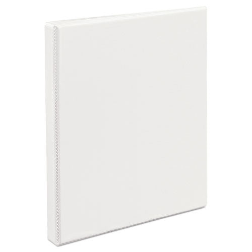 "Durable View Binder With Durahinge And Slant Rings, 3 Rings, 0.5"" Capacity, 11 X 8.5, White"
