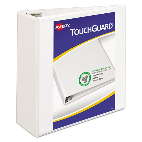 "Touchguard Protection Heavy-duty View Binders With Slant Rings, 3 Rings, 4"" Capacity, 11 X 8.5, White"