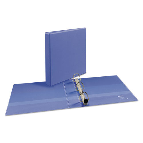 "Heavy-duty View Binder With Durahinge And One Touch Ezd Rings, 3 Rings, 1.5"" Capacity, 11 X 8.5, Periwinkle"