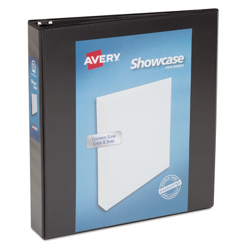 "Showcase Economy View Binder With Round Rings, 3 Rings, 1.5"" Capacity, 11 X 8.5, Black"