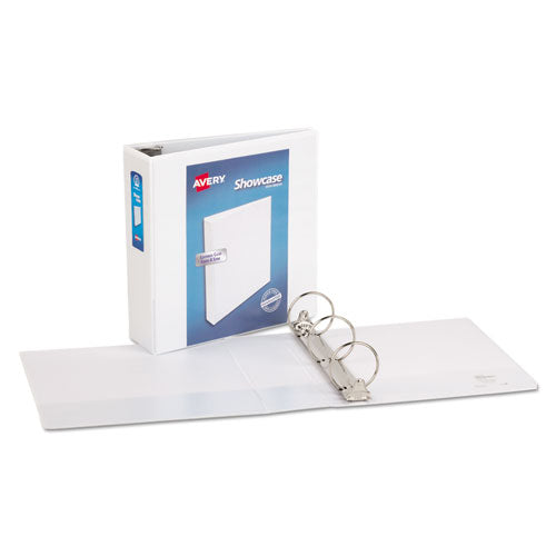 "Showcase Economy View Binder With Round Rings, 3 Rings, 3"" Capacity, 11 X 8.5, White"
