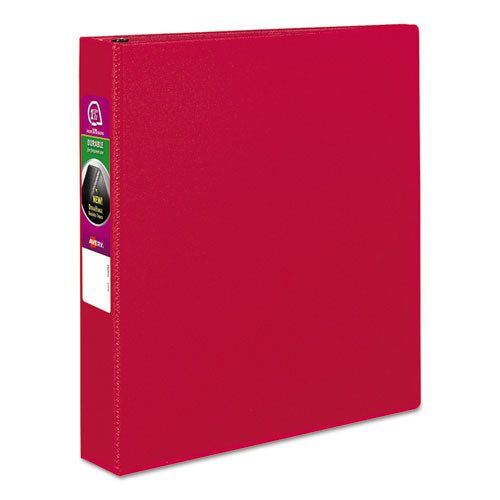 "Durable Non-view Binder With Durahinge And Slant Rings, 3 Rings, 1.5"" Capacity, 11 X 8.5, Red"