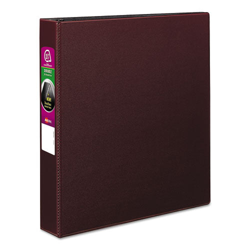 "Durable Non-view Binder With Durahinge And Slant Rings, 3 Rings, 1.5"" Capacity, 11 X 8.5, Burgundy"