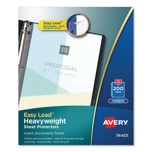 Top-load Poly Sheet Protectors, Heavyweight, Letter, Nonglare, 200-box