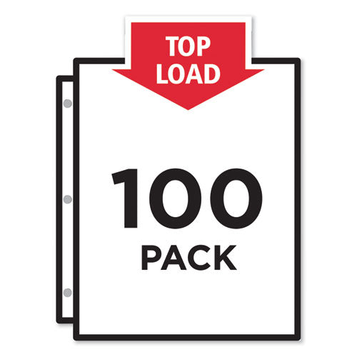 Top-load Sheet Protector, Economy Gauge, Letter, Clear, 100-box