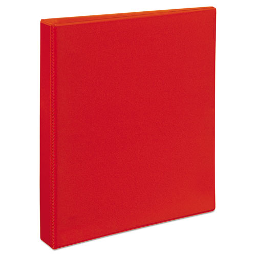 "Heavy-duty View Binder With Durahinge And One Touch Ezd Rings, 3 Rings, 1"" Capacity, 11 X 8.5, Red"