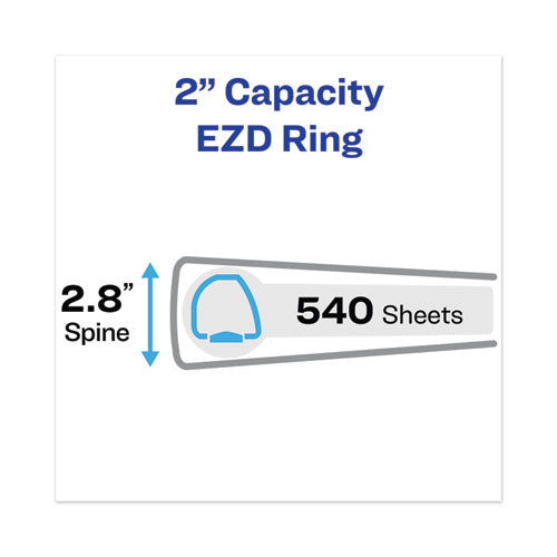 "Heavy-duty View Binder With Durahinge And One Touch Ezd Rings, 3 Rings, 2"" Capacity, 11 X 8.5, White"