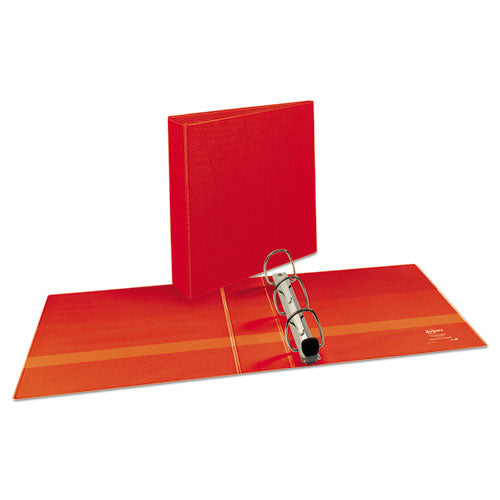 "Heavy-duty View Binder With Durahinge And One Touch Ezd Rings, 3 Rings, 2"" Capacity, 11 X 8.5, Red"