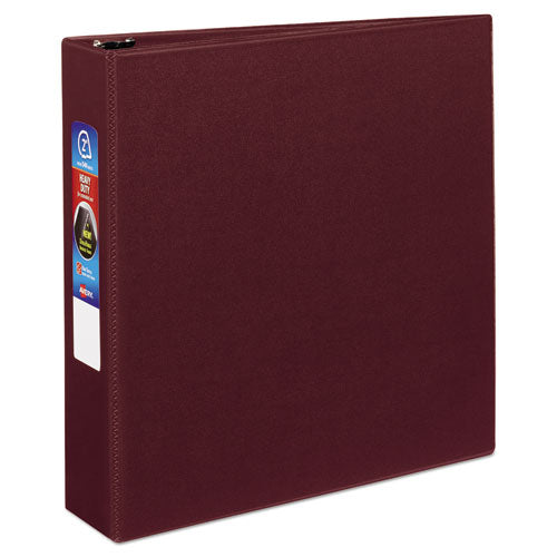 "Heavy-duty Non-view Binder With Durahinge And One Touch Ezd Rings, 3 Rings, 2"" Capacity, 11 X 8.5, Maroon"