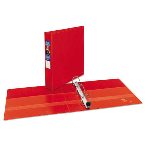 "Heavy-duty Non-view Binder With Durahinge And One Touch Ezd Rings, 3 Rings, 1.5"" Capacity, 11 X 8.5, Red"