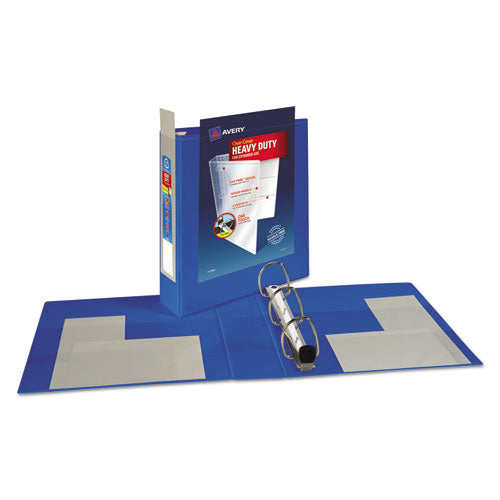 "Heavy-duty View Binder With Durahinge And One Touch Ezd Rings, 3 Rings, 2"" Capacity, 11 X 8.5, Pacific Blue"