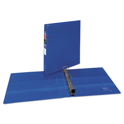 "Heavy-duty Non-view Binder With Durahinge And One Touch Ezd Rings, 3 Rings, 1"" Capacity, 11 X 8.5, Blue"