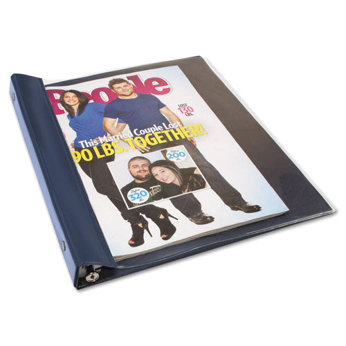 "Catalog-magazine Binder, Clamp System, 0.5"" Capacity, 11 X 9.5, Clear-navy Blue"