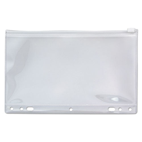 Zip-all Ring Binder Pocket, 6 X 9 1-2, Clear