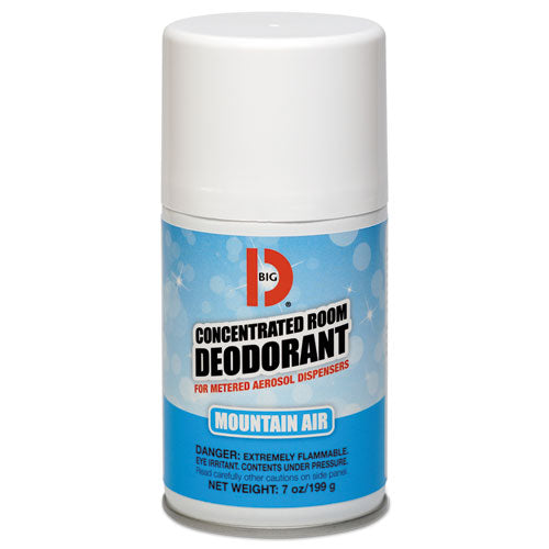 Metered Concentrated Room Deodorant, Mountain Air Scent, 7 Oz Aerosol, 12-carton