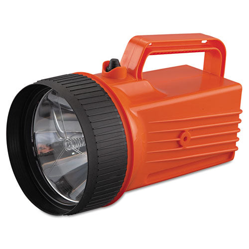 Worksafe Waterproof Lantern, 6 V Battery (not Included), Orange-black
