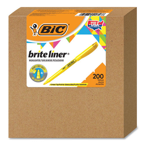 Brite Liner Highlighter, Chisel Tip, Yellow, 200-carton