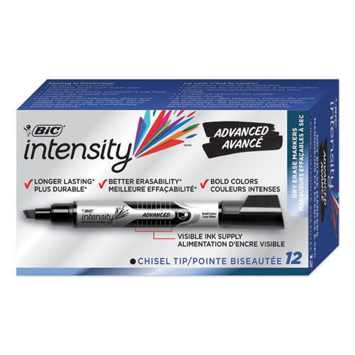 Intensity Tank-style Advanced Dry Erase Marker, Broad Bullet Tip, Assorted, 4-pack