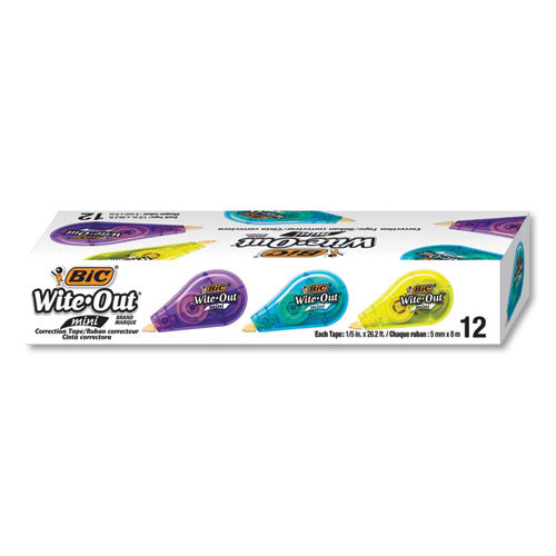 "Wite-out Brand Mini Correction Tape, Non-refillable, 1-5"" W X 26.2 Ft, Assorted"
