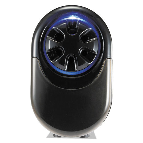 "Quietsharp Glow Classroom Electric Pencil Sharpener, Ac-powered, 6.13"" X 10.69"" X 9"", Silver-black"