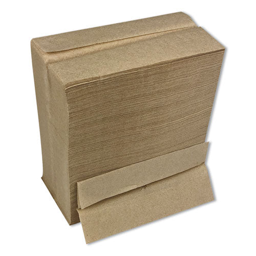 Tall Fold Dispenser Napkins, 1-ply, 13 X 6, Kraft, 500-pack, 20 Packs-carton