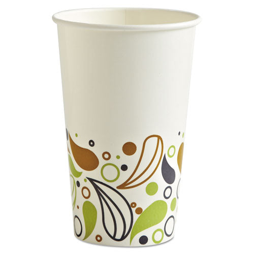 Deerfield Printed Paper Cold Cups, 16 Oz, 20 Cups-sleeve, 50 Sleeves-carton