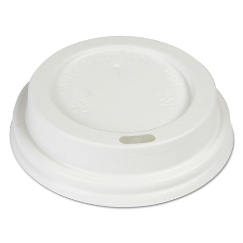 Hot Cup Lids, Fits 8 Oz Hot Cups, White, 1000-carton
