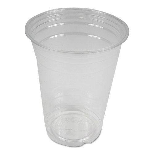Clear Plastic Cold Cups, 16 Oz, Pet, 20 Cups-sleeve, 50 Sleeves-carton