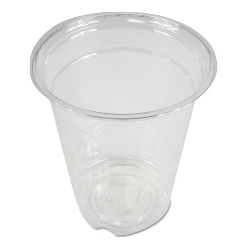 Clear Plastic Cold Cups, 9 Oz, Pet, 20 Cups-sleeve, 50 Sleeves-carton