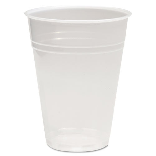 Translucent Plastic Cold Cups, 9 Oz, Polypropylene, 25 Cups-sleeve, 100 Sleeves-carton