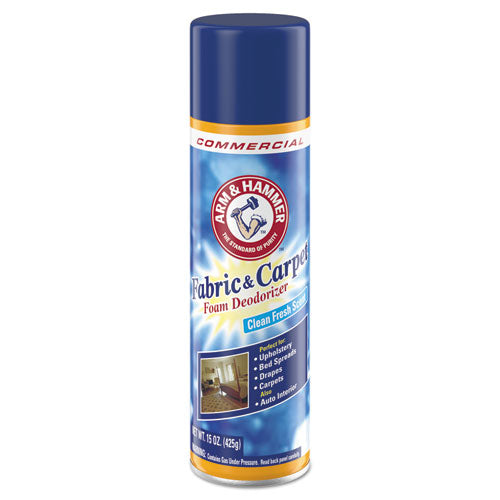 Fabric And Carpet Foam Deodorizer, Fresh Scent, 15 Oz Aerosol, 8-carton