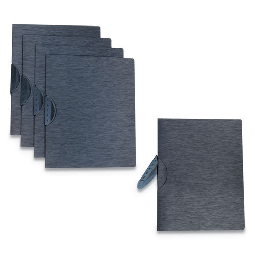 "Modern Metallic Executive Style Report Cover, 8 1-2"" X 11"", Black, 5-pack"