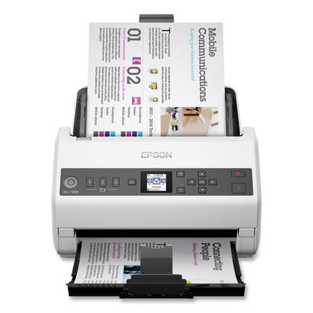 Ds-730n Network Color Document Scanner, 600 Dpi Optical Resolution, 100-sheet Duplex Auto Document Feeder