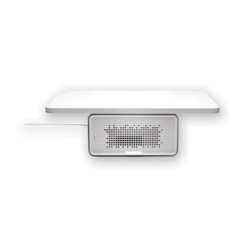Freshview Wellness Monitor Stand With Air Purifier, 22.5 X 11.5 X 5.4, White