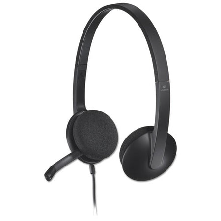 H340 Corded Headset, Usb, Black