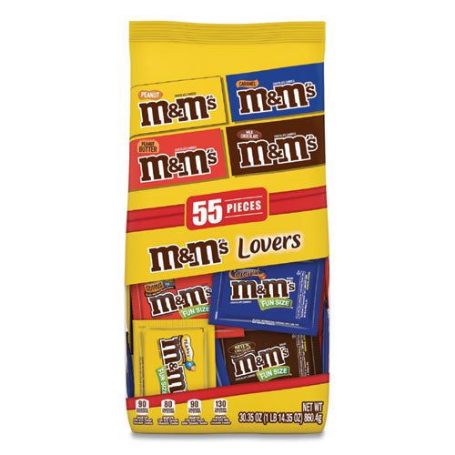 Fun Size Variety Mix, Caramel, Milk Chocolate, Peanut, Peanut Butter Flavors, 30.35 Oz Bag, 55 Packs-bag